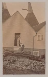 House With Subsidence Disaster Coal Rag & Bone Man Real Photo Disaster Postcard