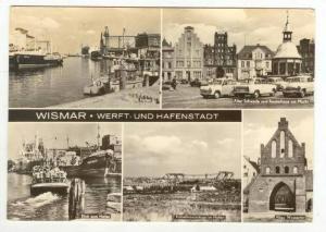 RP  Wismar, Germany PU-1975  5-view postcard