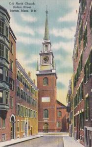 Massachusetts Boston Old North Church Salem Street 1947