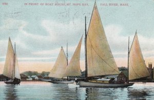 FALL RIVER , Mass. , 1909 ; Front of Boat House