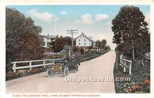 Old Vintage Shaker Post Card Along the Lebanon Trail, Home of the West Pittsf...