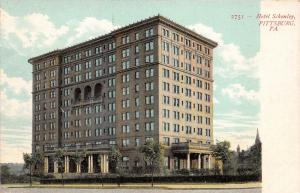 Pittsburgh Pennsylvania~Hotel Schenley~Triple Arches in Middle of Building~c1910