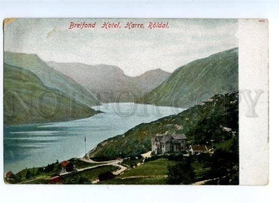 171825 NORWAY Breifond Hotel Harre Roldal Vintage postcard