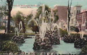 Michigan Detroit Fountain Washington Boulevard