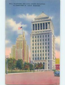 Unused Linen BELL TELEPHONE BUILDING St. Louis Missouri MO G0859