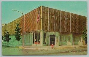 Coffeyville KS~Fire Hydrant on Corner~Willbern's 1st Federal Savings & Loan~1961