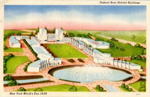 NY - New York World's Fair, 1939. Federal Area Exhibit Buildings