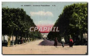 Old Postcard Nimes Avenue Feucheres