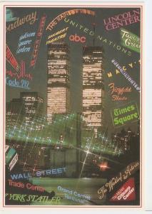 Postal 045688 : New York City Sights Postcards