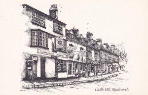 Clarenden Arms Pub Castle Hill Kenilworth Warks Artist Postcard