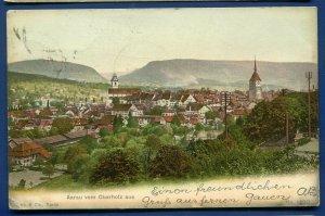 Switzerland Aarau Aerau vom Oberholz aus postmarked 1905 postcard