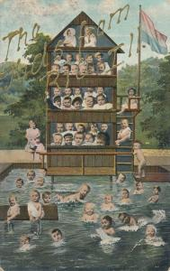 Multiple Babies - Bath House & Swimming Pool - Kids from Rio Illinois pm 1908