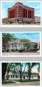3 Postcards GREEN BAY, Wisconsin WI  ~ HOTEL NORTHLAND Hospital Library Museum