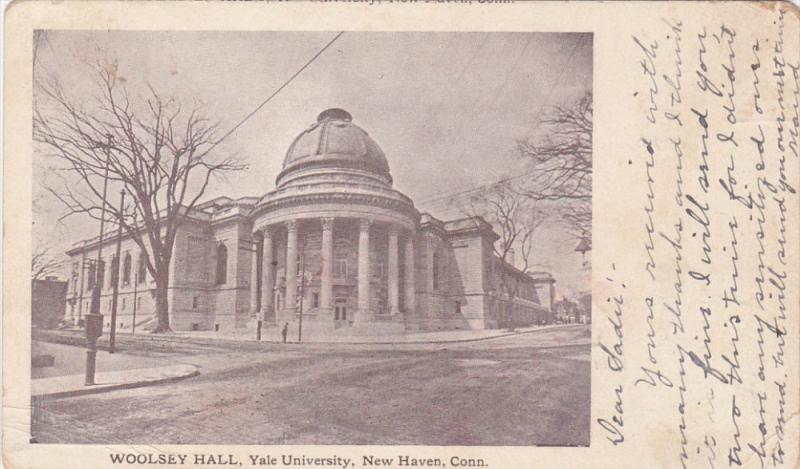NEW HAVEN, Connecticut, PU-1905; Woolsey Hall, Yale University