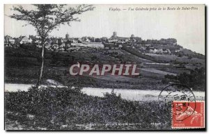Old Postcard VezelayVue Generale Taking The Way of St. Pere