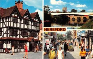 Hereford, The Old House River Wye and Cathedral Eign Gate Shopping Precinct