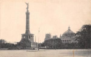 Germany Berlin Victory monument,Tiergarten Column AK