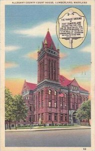Maryland Cumberland Allegany County Court House 1952