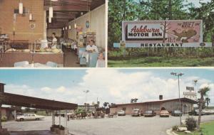 Multi-View, Ashburn Motor Inn, Interior View of Restaurant, Classic Cars, ASH...