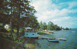 New Hampshire Wolfeboro Sun Deck & Water Ski Dock Point Breeze On Lake We...