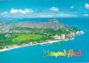 Hawaii Waikiki Diamond Head Aerial View