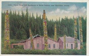KETCHIKAN , Alaska , 00-10s ; Totem Poles & Residences of Haida Indians