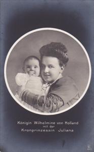RP; Konigen Wilhelmine von Holland mit der Kronprinzessin Juliana, 00-10s
