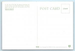HONG KONG, CHINA ~ HAR PAR MANSION & Pagoda -Tai Hang Hills c1960s Postcard