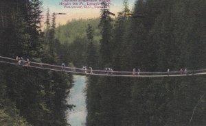 VANCOUVER, British Columbia, Canada, PU-1946; Capilano Suspension Bridge