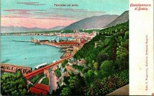 Vtg Carte Postale Taly - Castellammare Di Stabia Panorama Del Porto Ragozino Pub