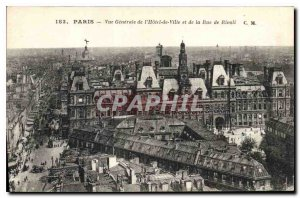 Postcard Old Paris General view of City Hall and the Street Pivoli