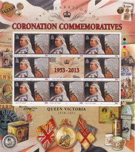 Queen Victoria Isle Of Man Royal Coronation Rare Mint Stamp Block Sheet