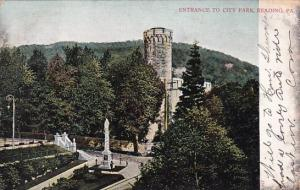 Pennsylvania Reading Entrance To City Park 1906