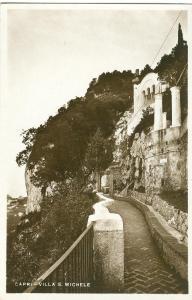 Italy, Capri, Villa S. Michele, unused real photo Postcard