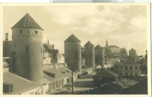 Estonia, Tallinn, Medieval Towers, used photo/ Postcard