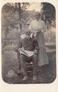 Estherville IA L. Halverson Postcard Artist Newspaper Woman with Postcard RPPC