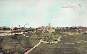 E2/ Phoenix Arizona Az Postcard 1909 U.S. Indian School Building Native Ameican