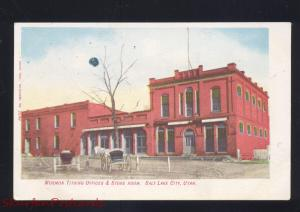 SALT LAKE CITY UTAH MORMON TITHING OFFICES STORE ROOM VINTAGE POSTCARD 1905
