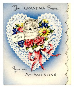 Greeting Card - Valentine for Grandma. Blank,  Envelope, Unused  (4.875 X 4)