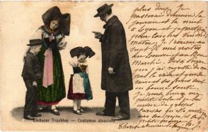CPA AK Elsasser Trachten - Costumes Alsaciens - Folklore - Types (481398)