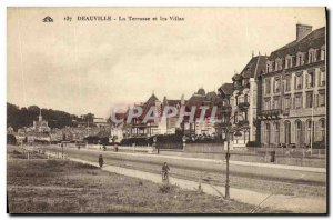 Old Postcard Deauville Terrace and Villas
