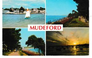 Post Card Dorset MUDEFORD 4 views Dennis Productions M.2212