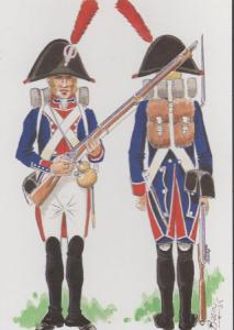 Lieutenant Foot Staff Spain Army Spanish Peninsula War Military Uniform Postcard