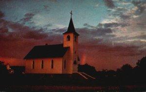 Brevort, Michigan, MI, Trinity Lutheran Church, Chrome Vintage Postcard g8921