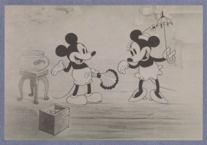 Minnie of Mickey Mouse in Pet Store Old Cartoon Still Postcard