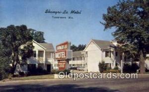 Shangri La Motel, Tuscaloosa, AL, USA Motel Hotel Postcard Post Card Old Vint...