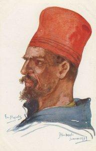 Military Soldier Head Portrait by Em. DUPUIS , WWI (1914-1918) ; #3