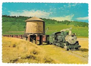Cumbres & Toltec Steam Engine Water Stop Train RR Postcard