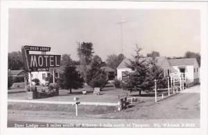 New York Tangent Deer Lodge Motel Real Photo RPPC