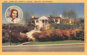 Belair California~Actress Loretta Young Residence~Mansion on Hilltop~1940s Linen